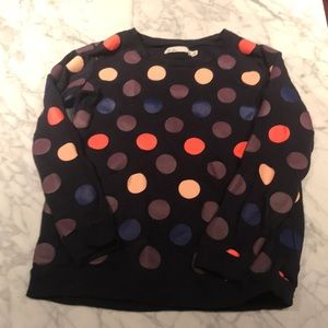 Madewell polkadot sweater Navy and Multi XS VGUC